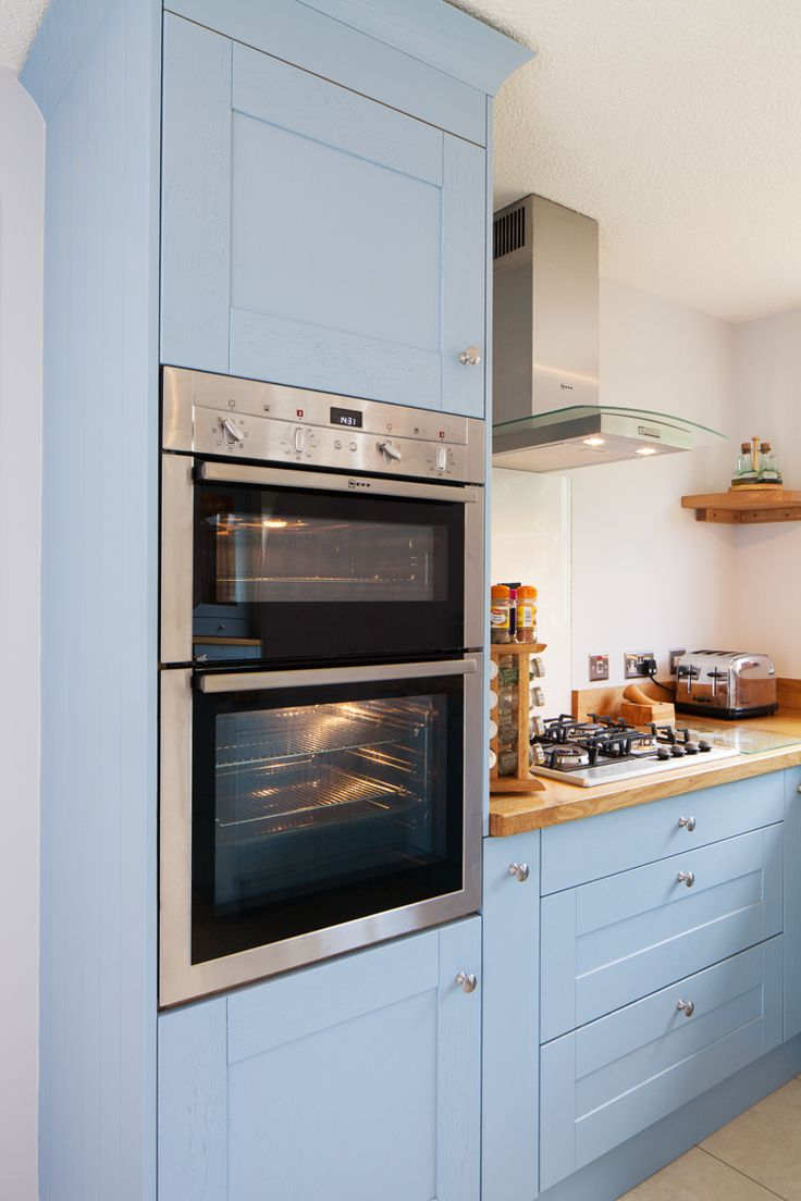 30 best images about lulworth blue on pinterest shaker for Double kitchen cabinets