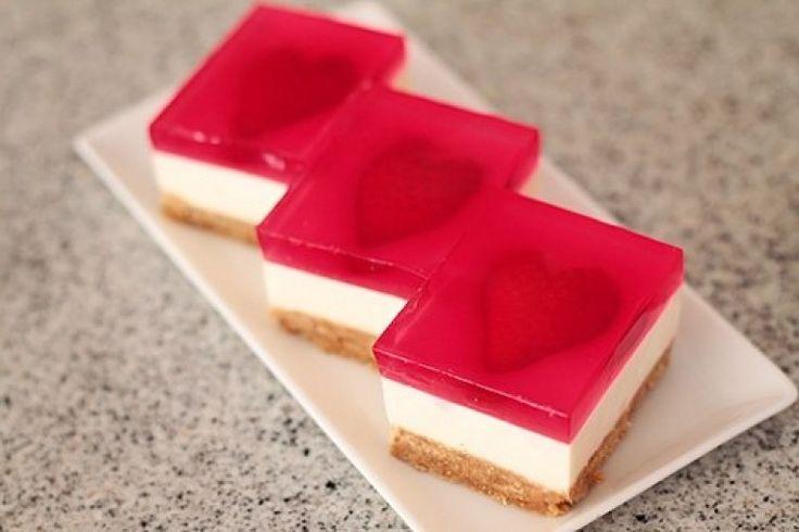 Strawberry Jelly Hearts Slice