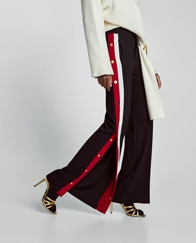 5defc8fc Image 2 of PYJAMA-STYLE TROUSERS WITH SIDE STRIPES from Zara | Ropa ...