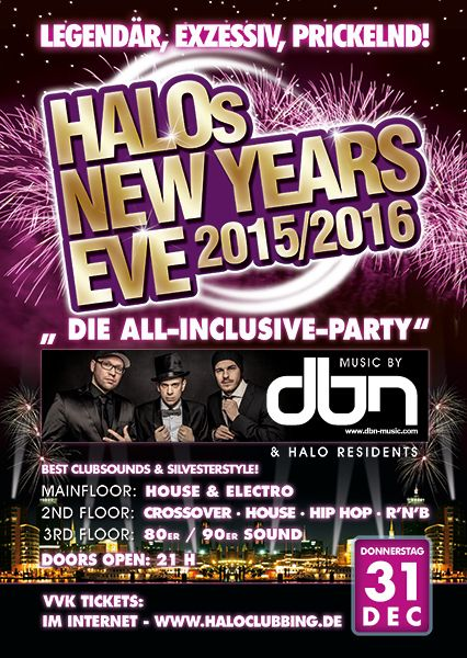 Events - HALO - NEW YEARS EVE 2015/2016
