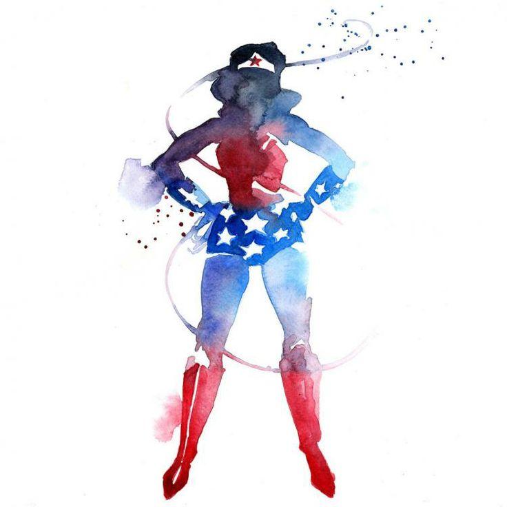 Watercolor Superheroes | StockLogos.com