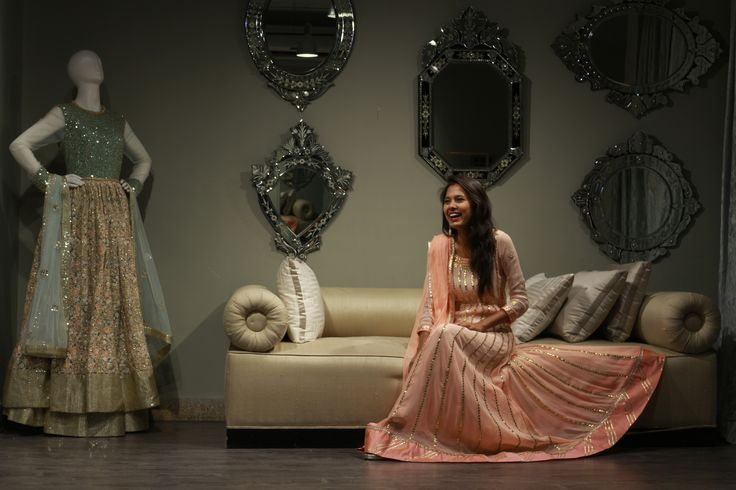 Kavita from Click That Styles smiling to glory at our KALKI Studio, Worli.  #behindthescenes