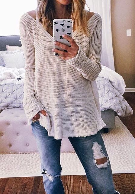 relaxed weekend look