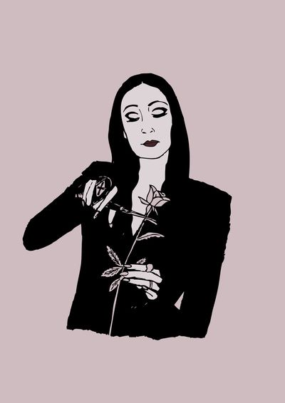 Morticia Addams - The Addams Family Art Print