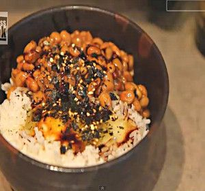 This particular Japanese style breakfast is one of the simplest to make. In fact, I make this whenever I need a quick snack. This is natto gohan. Natto is fermented soybeans which, like miso, are rich in protein. They are, however, an acquired taste since they have a powerful smell and slimy consistency. If you like stinky cheese, It's nothing you haven't experienced before and I highly recommend you try it.