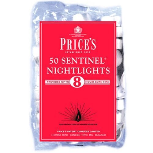 Prices Candles Price's Sentinel Nightlights - Pack of 50 | Hilary Rhodes on WeShop
