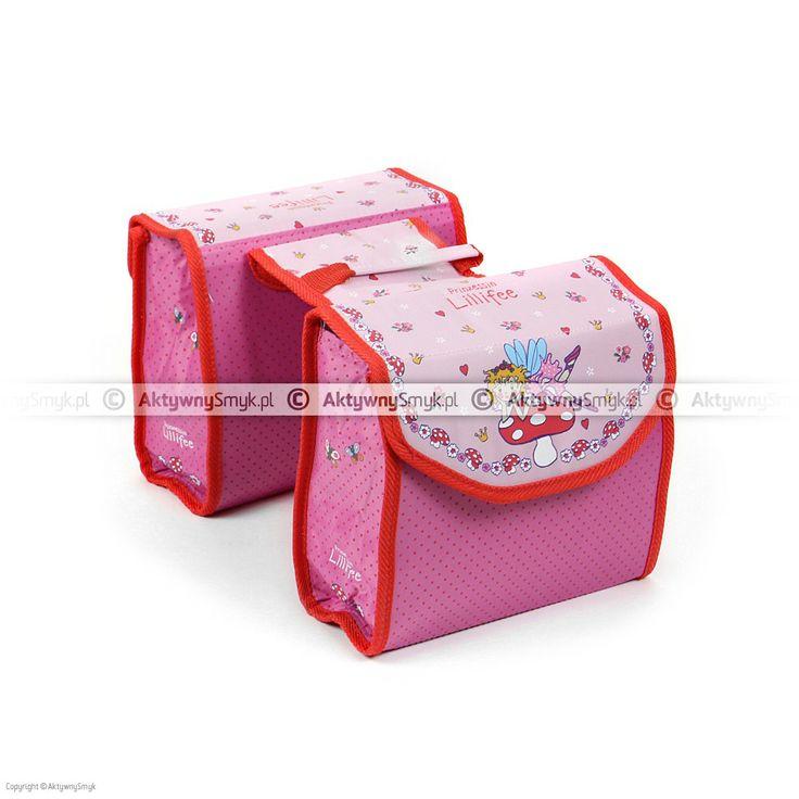 Różowe sakwy rowerowe z Księżniczką Lillifee