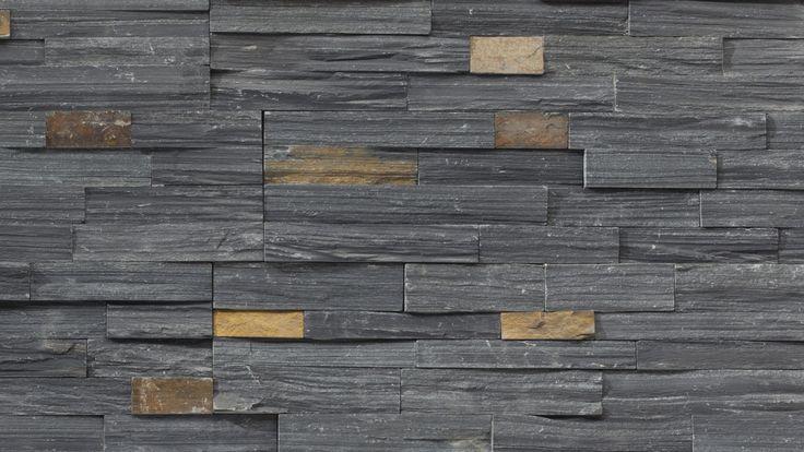 Charcoal Ledgestone Panel Stone veneer, Ledgestone