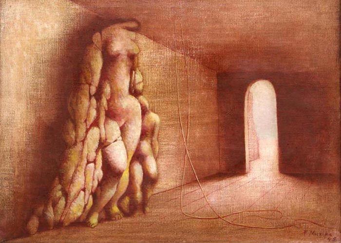 František Muzika - Crypt (1947) #painting #Czechia #art #CzechArt