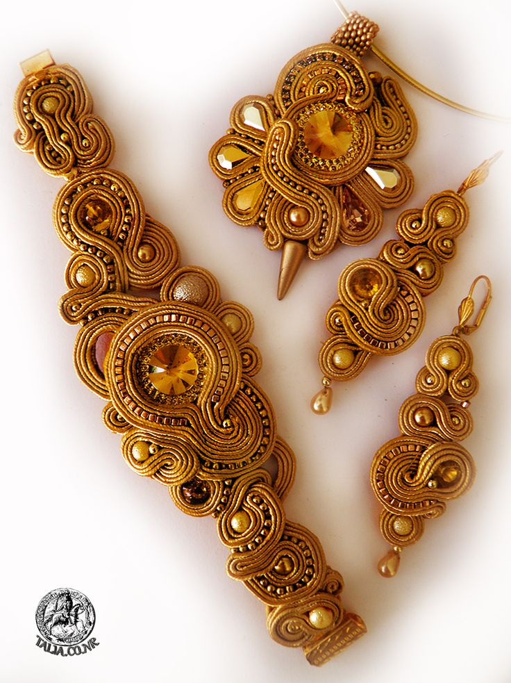 Yellow soutache set