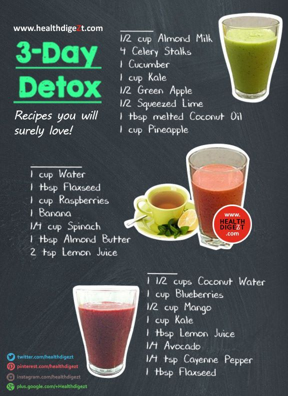 3 Day Detox Recipe #healthdigezt #health #diet #beauty # ...