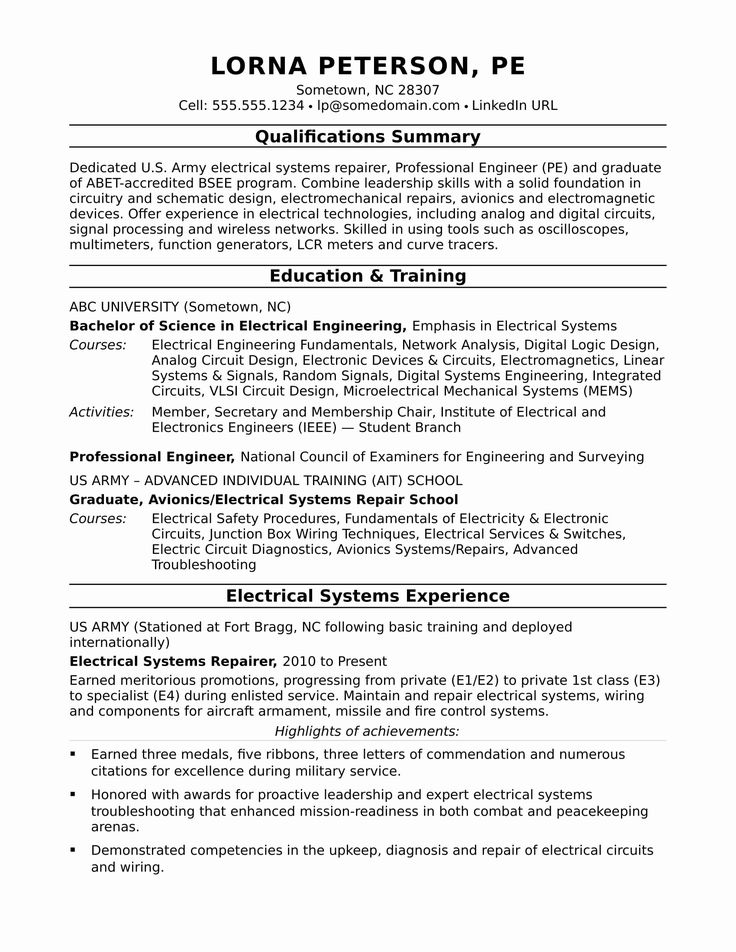 Systems Engineering Resume Examples Lovely Sample Resume
