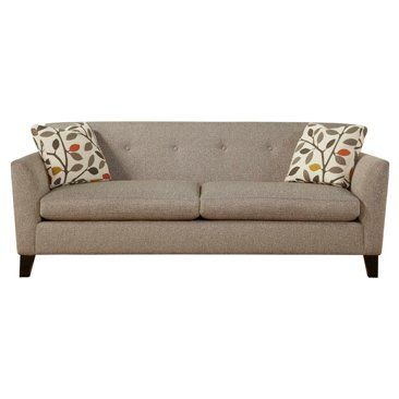 "Check out this item at One Kings Lane! Seren 83"" Button-Tuft Sofa, Granite"