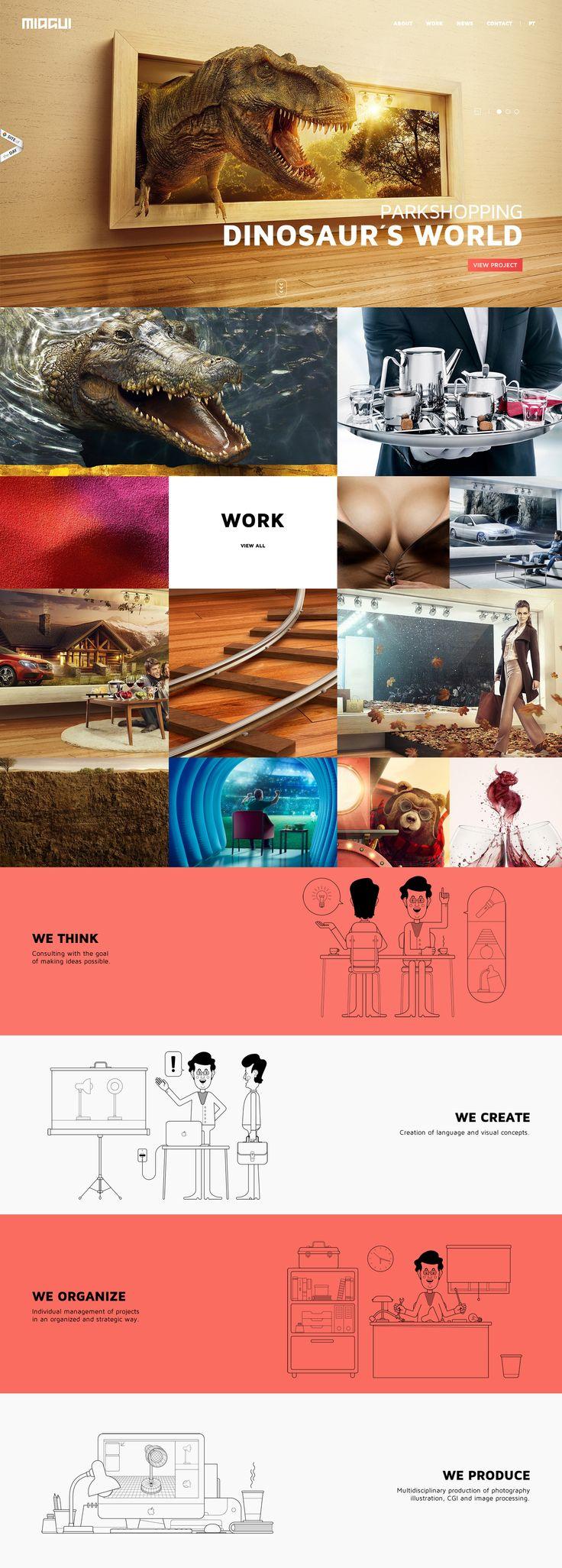 Miagui Imagevertising, 12 September 2013. http://www.awwwards.com/web-design-awards/miagui-imagevertising   #ArtIllustration #Illustration #Photography #Design #Portfolio #Graphic design