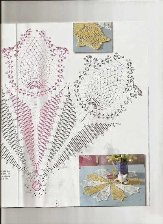 doily chart pineapple tulip