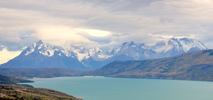 L1M1AS3: Nikon D7000 18-142mm Auto (no flash). Trip to Patagonia Feb 2016. Torres del Paines NP Chile. Unforgettable place. Unusual colour contrast of water, foothills, mountains and sky. Shot late afternoon.