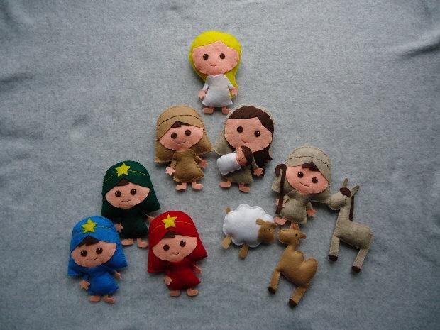 Felt Nativity Scene -