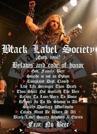 Black Label Society - Bylaws I live by!!!