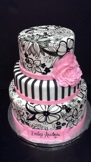 painted flowers cake.