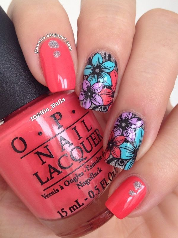Nailpolis Museum of Nail Art | Exotic Flowers by Giovanna - GioNails