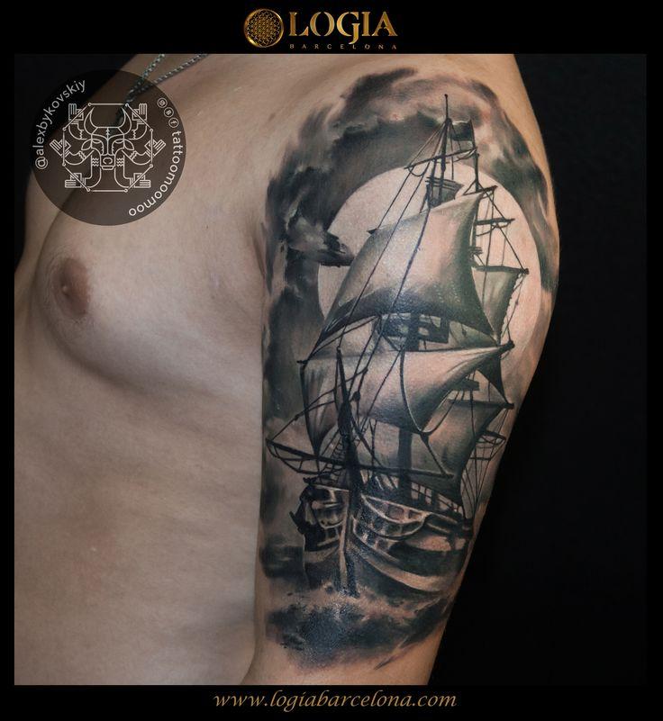 Φ Artist ALEX BYKOVSKIY Φ Info & Citas: (+34) 93 2506168 - Email: Info@logiabarcelona.com  #logiabarcelona #logiatattoo #tatuajes #tattoo #tattooink #tattoolife #tattoospain #tattooworld #tattoobarcelona #ink #arttattoo #artisttattoo #inked #instattoo #inktattoo #tattoocolor #dotwork #puntillismo #tattooart #tattooist #tattoolife #ink #inkaddict #realism #realismo #vessel #navio #sea #mar #ocean #sails #velas