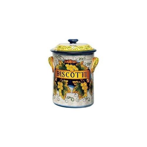 Italian Style Ceramic Biscotti Hand Painted Jar From China