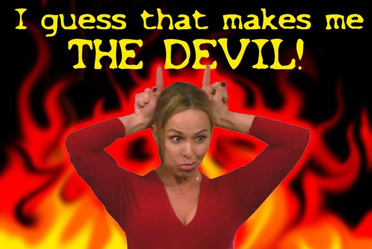 """Jan Levinson. """"I guess that makes me the Devil!"""" By Bobblehead Gary."""