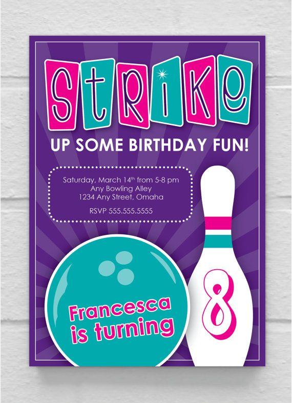 BIRTHDAY INVITATION // Kids Bowling Party by SimplySaidbyCourtney