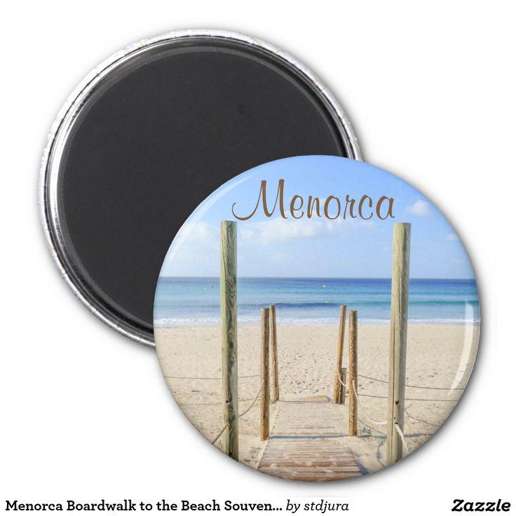 Menorca Boardwalk to the Beach Souvenir Magnet