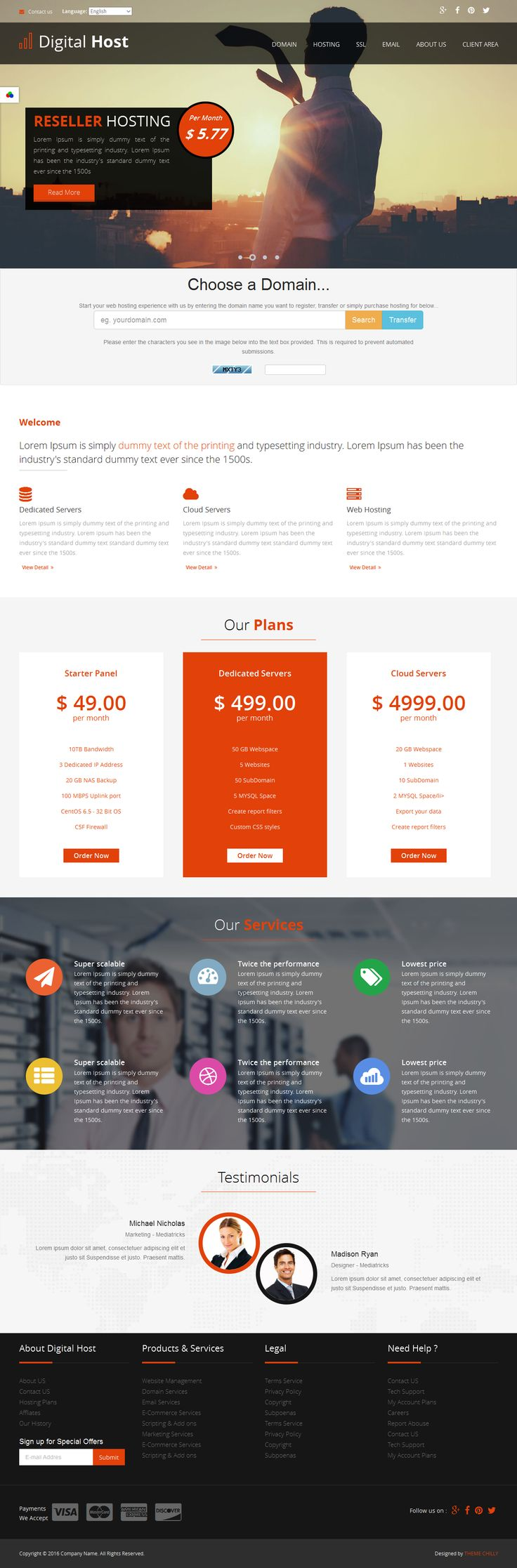 Colors for professional website - Give Profeesional Look To Your Website With Digital Host