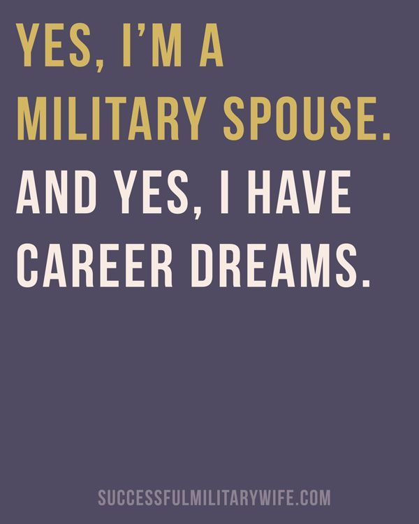 Yes, I am a Military Spouse
