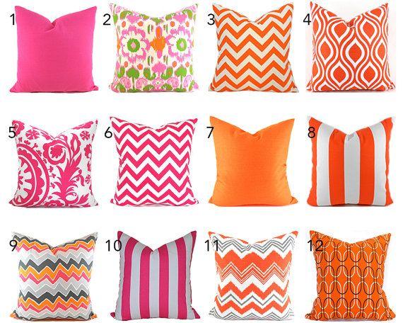 Kissenbezüge jeder Größe wählen Sie dekorative Kissenbezug heißen Rosa Kissen Orange Kissen Ikat Kissen Chevron Kissen