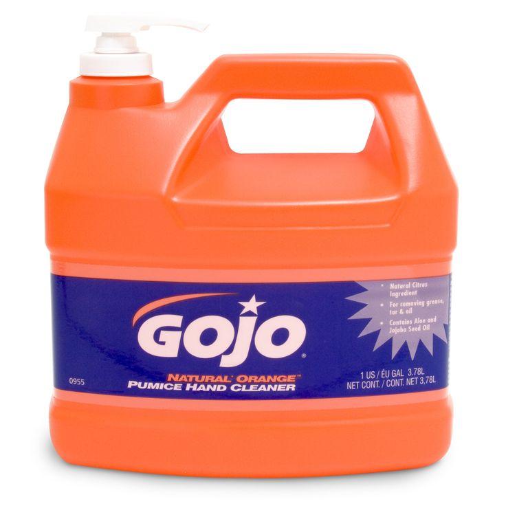 GOJO 095504CT Natural Orange Pumice Hand Cleaner, Orange Citrus, 1gal Pump (Case of 4)