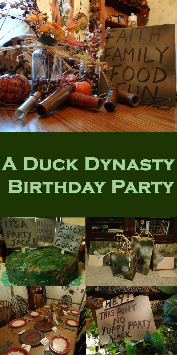 Duck Dynasty Birthday Party | candleinthenight.com