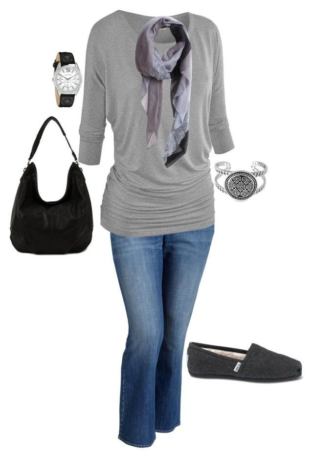 """""""Plus Size Outfit"""" by jmc6115 on Polyvore featuring Old Navy, TOMS, Geneva, Fall, plussize and fallfashion"""