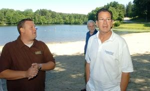 "Malloy touts tourism push in visit to Bozrah campground - The sprawling, 100-acre Odetah Camping Resort in Bozrah was stop number one in Gov. Dannel P. Malloy's tour of southeastern Connecticut on Wednesday to promote the state's new ""Still Revolutionary"" tourism campaign. Read more: http://www.norwichbulletin.com/carousel/x1625321290/Malloy-touts-tourism-push-in-visit-to-Bozrah-campground #ctnews #connecticut #tourism #malloy #stillrevolutionary"