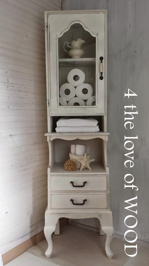4 the love of wood: SHABBY TALL CABINET - custom wood working