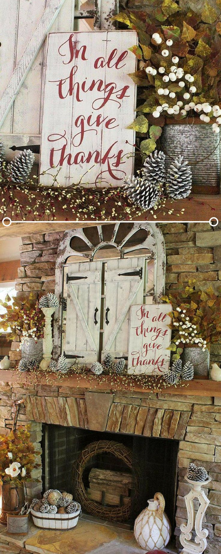Christmas wooden christmas memories hanging sign sold out - In All Things Give Thanks I Love This Rustic Sign The Red Cursive Really Stands Out Against The White Distressed Wood Great Farmhouse Thanksgiving