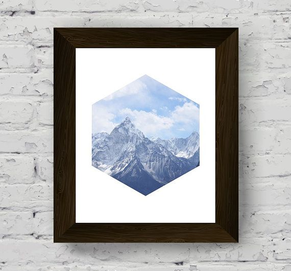 stampe d'arte di parete di montagna fotografia