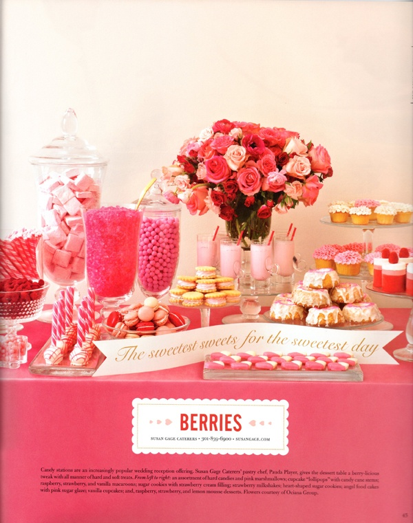 Pink candy buffet for baby shower or party