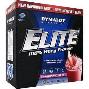 Protein Shakes and Bodybuilding: Dymatize Nutrition Elite 100% Whey Protein Strawberry Blast 10 Lbs -> BUY IT NOW ONLY: $85.49 on eBay!