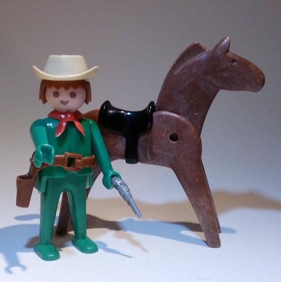 PLAYMOBIL 3342 A / Cow-Boy Cheval  collection vintage 1975