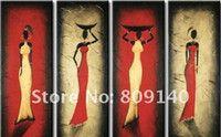 Cheap allungato pronta ad appendere astratta africana ritratto della donna misura grande pittura a olio handmade ufficio casa albergo decorazione della parete di arte