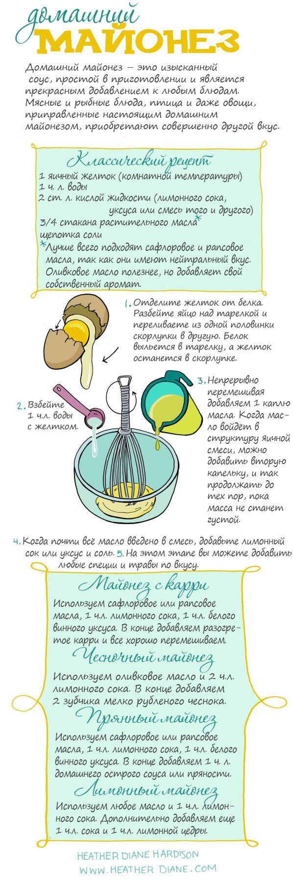 Помните, что приготовленный вами домашний майонез может храниться всего несколько дней в холодильнике. И не забывайте, что майонез — исключи...