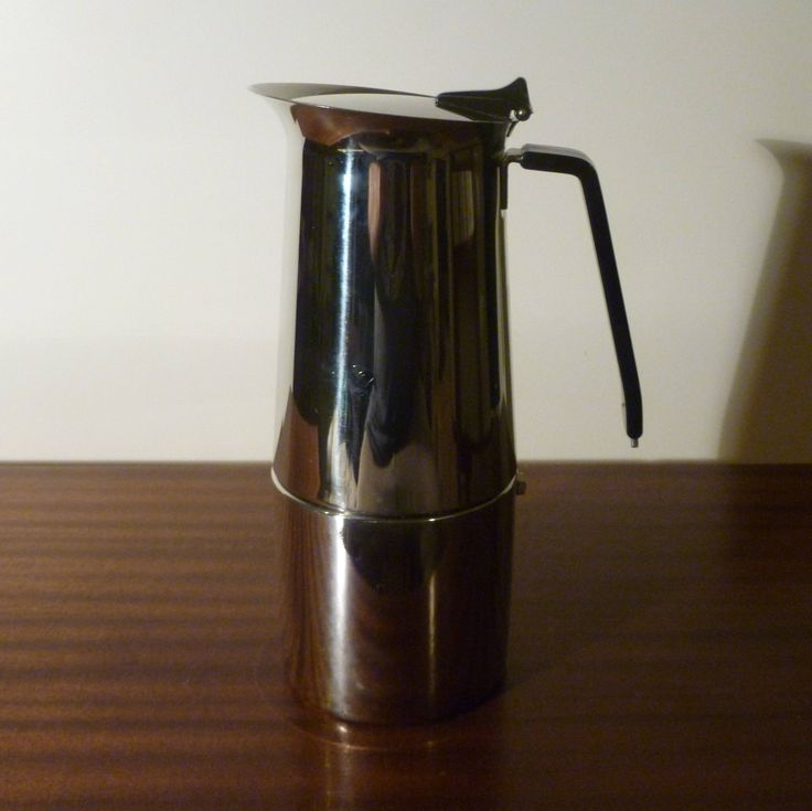 $35  Here is a 1970s Stainless Steel Espresso Coffee Maker: Alfa Per Alimenti Made in Italy