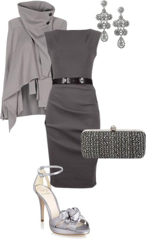 Outfit in verschiedenen Grautönen Kerstin Tomancok / Farb-, Typ-, Stil & Imageb…