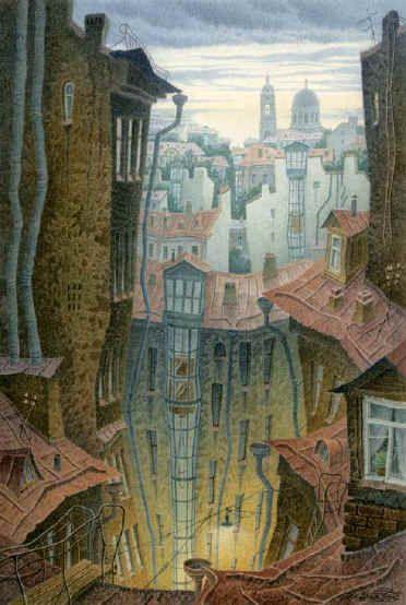 """""""St. Petersburg"""" — Vladimir Kolbasov, watercolor"""