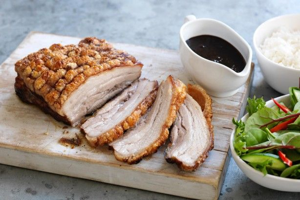 Try this crispy skin pork belly in a sweet Asian marinade by taste member, 'CKnight'.
