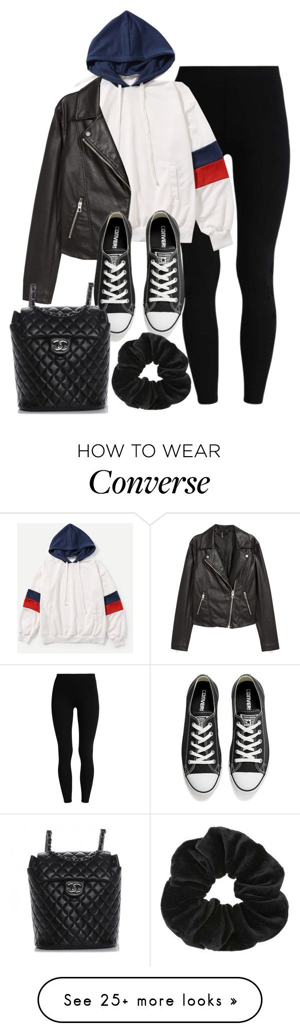 """Sin título #14260"" by vany-alvarado on Polyvore featuring H&M, Converse, Chanel and Miss Selfridge"