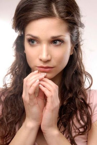 Katerina Geronikolou , Greek actress. I'd cast her as Sappho in the movie adaptation of Temple of Love.